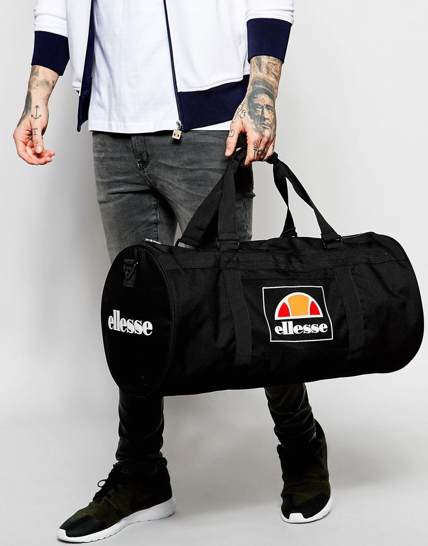 Lyst Ellesse Box Logo Duffle Bag In Black For Men