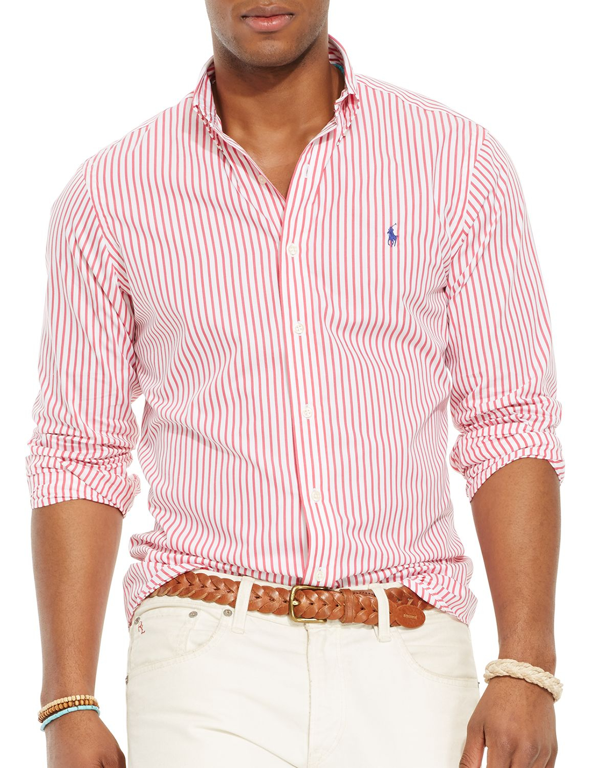 02ac186ba Ralph Lauren Polo Bengal Striped Poplin Button Down Shirt in Red for ...