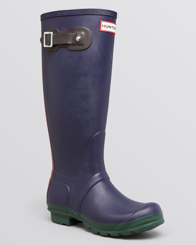 Hunter Original Rain Boots Contrast In Blue Lyst