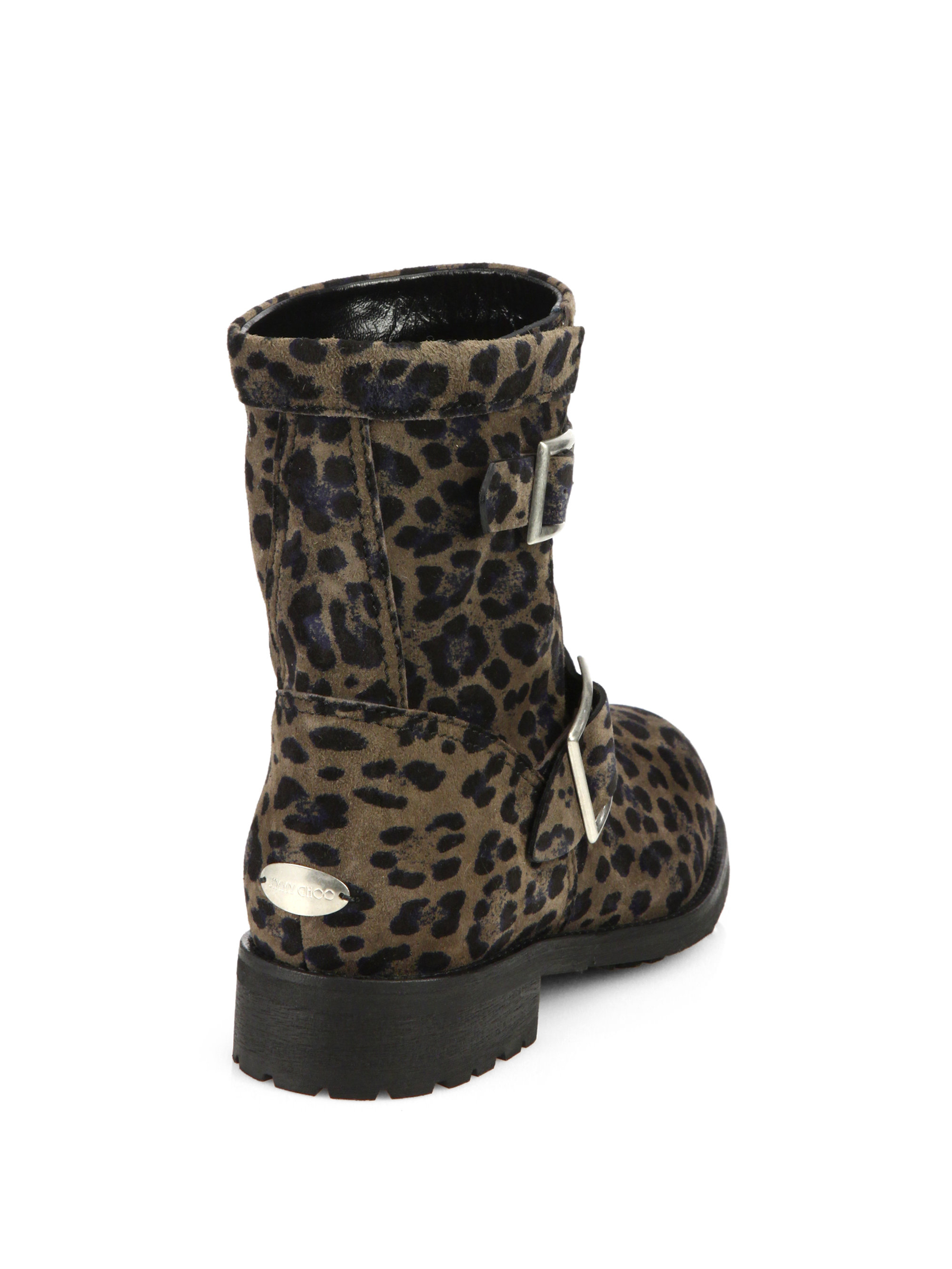 c2fbb1041503 ... breeze studded leather trimmed leopard print calf hair ankle boots in  brown ddb0e 33ff8  get lyst jimmy choo leopard print suede biker boots in  natural ...