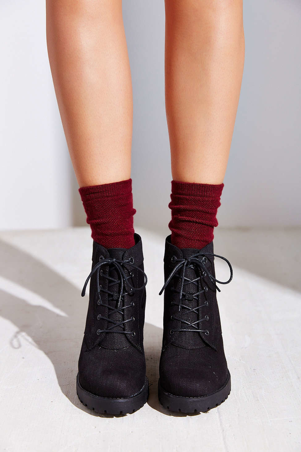 Vagabond Canvas Grace Lace-up Boot in