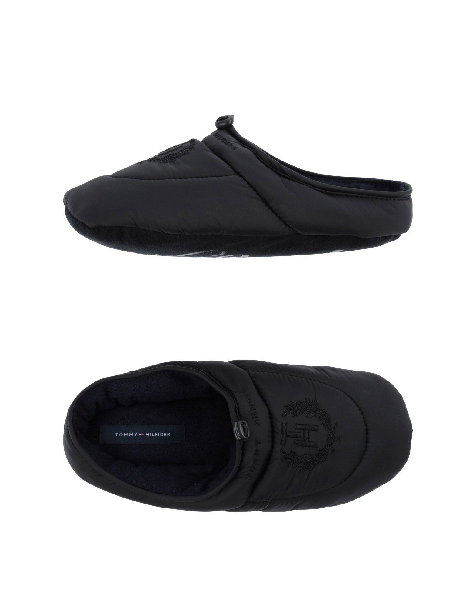 tommy hilfiger slippers in black for men lyst. Black Bedroom Furniture Sets. Home Design Ideas