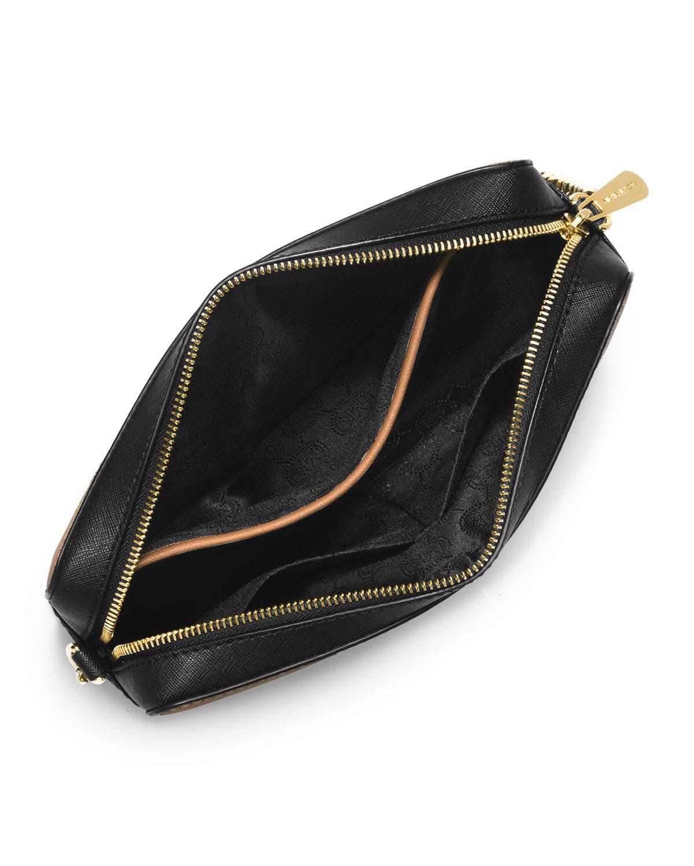 michael michael kors jet set travel saffiano crossbody bag. Black Bedroom Furniture Sets. Home Design Ideas