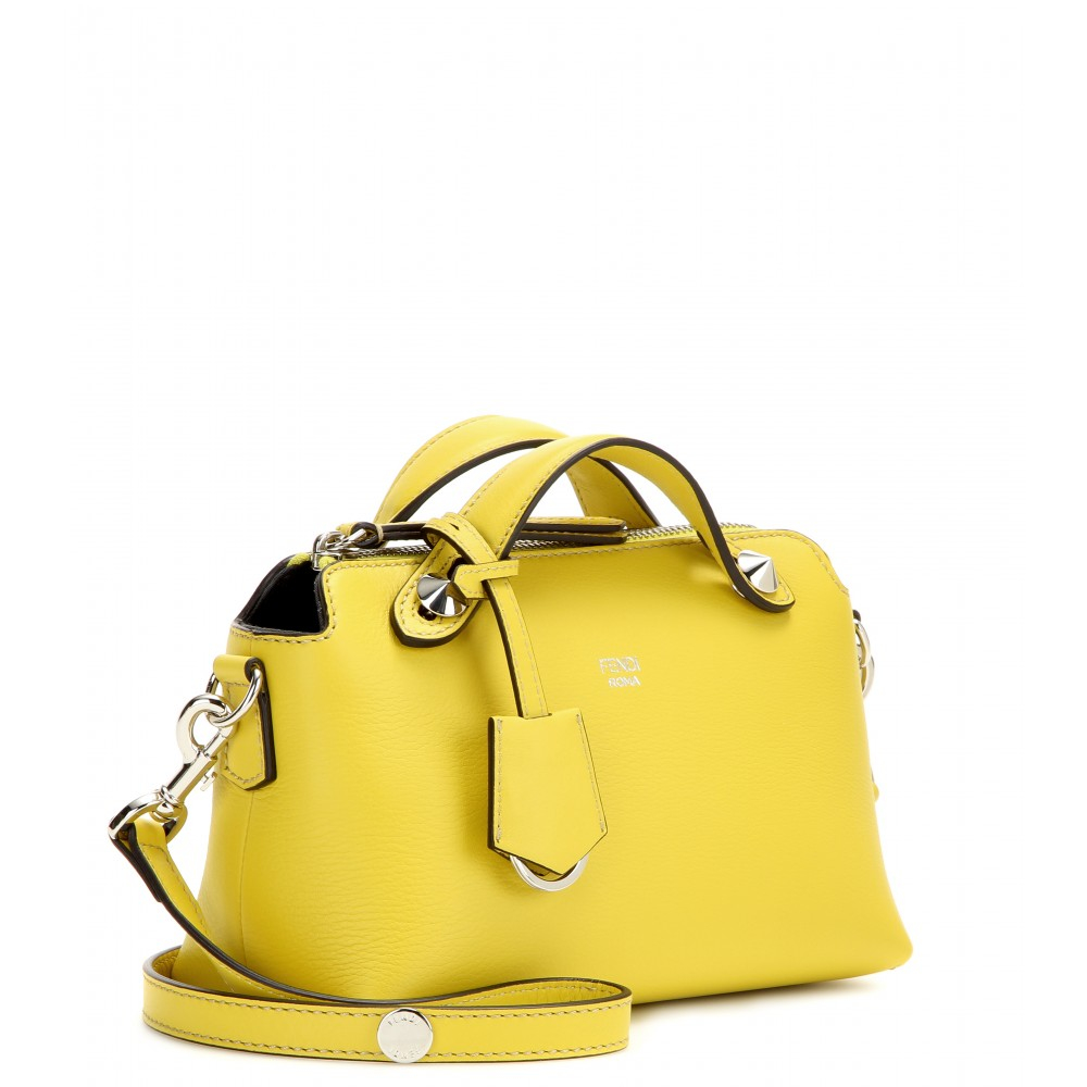Lyst - Fendi By The Way Mini Leather Bag in Yellow f16eb4cd192e4