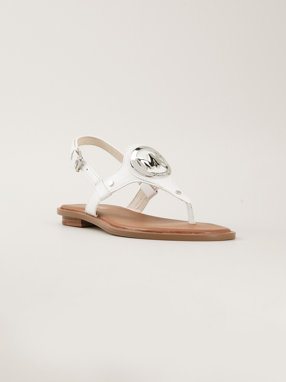 Lyst Michael Michael Kors Aubrey Flat Sandals In White