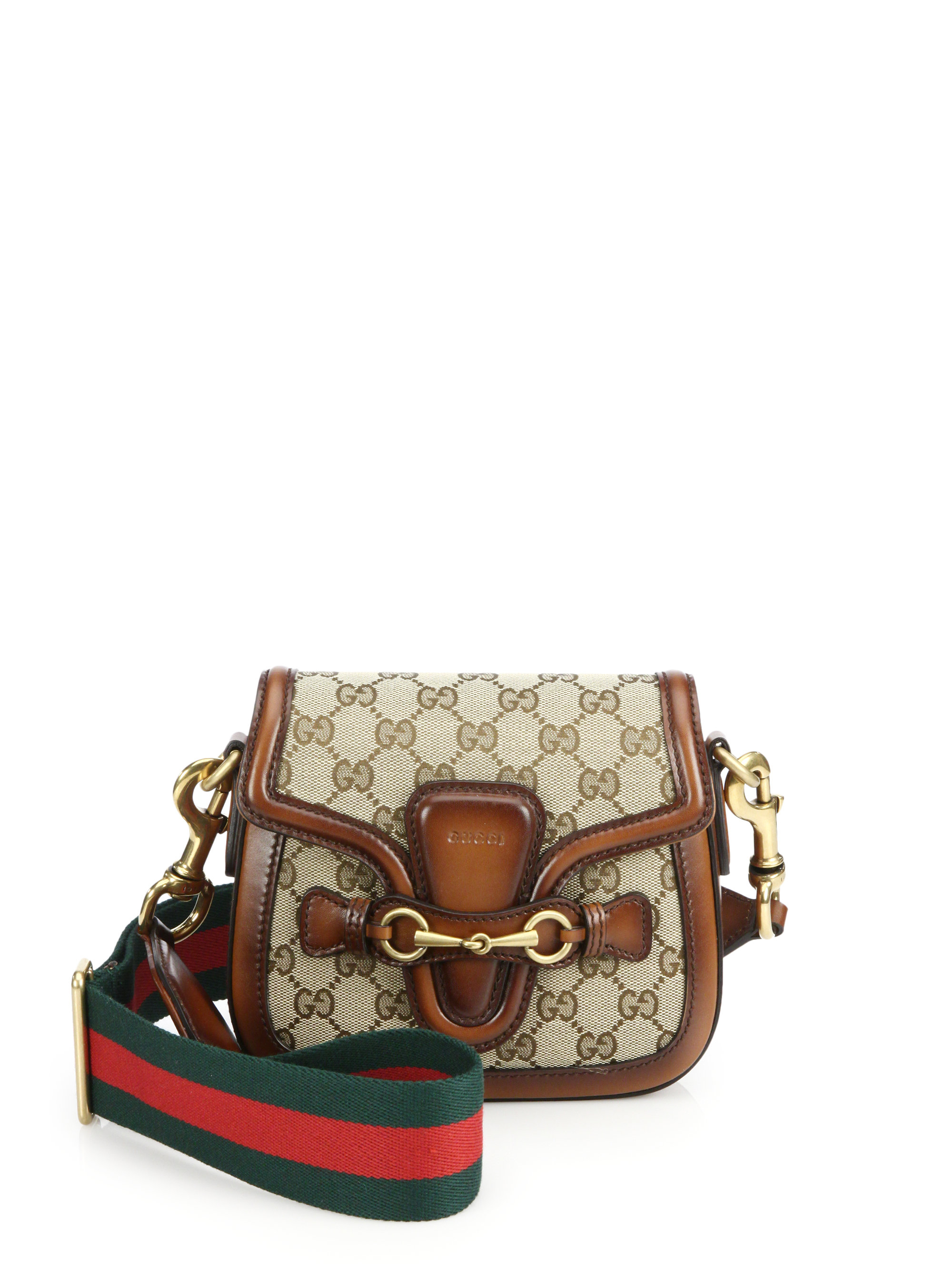 c520122233b7 Lyst - Gucci Lady Web Original Gg Canvas Shoulder Bag in Natural