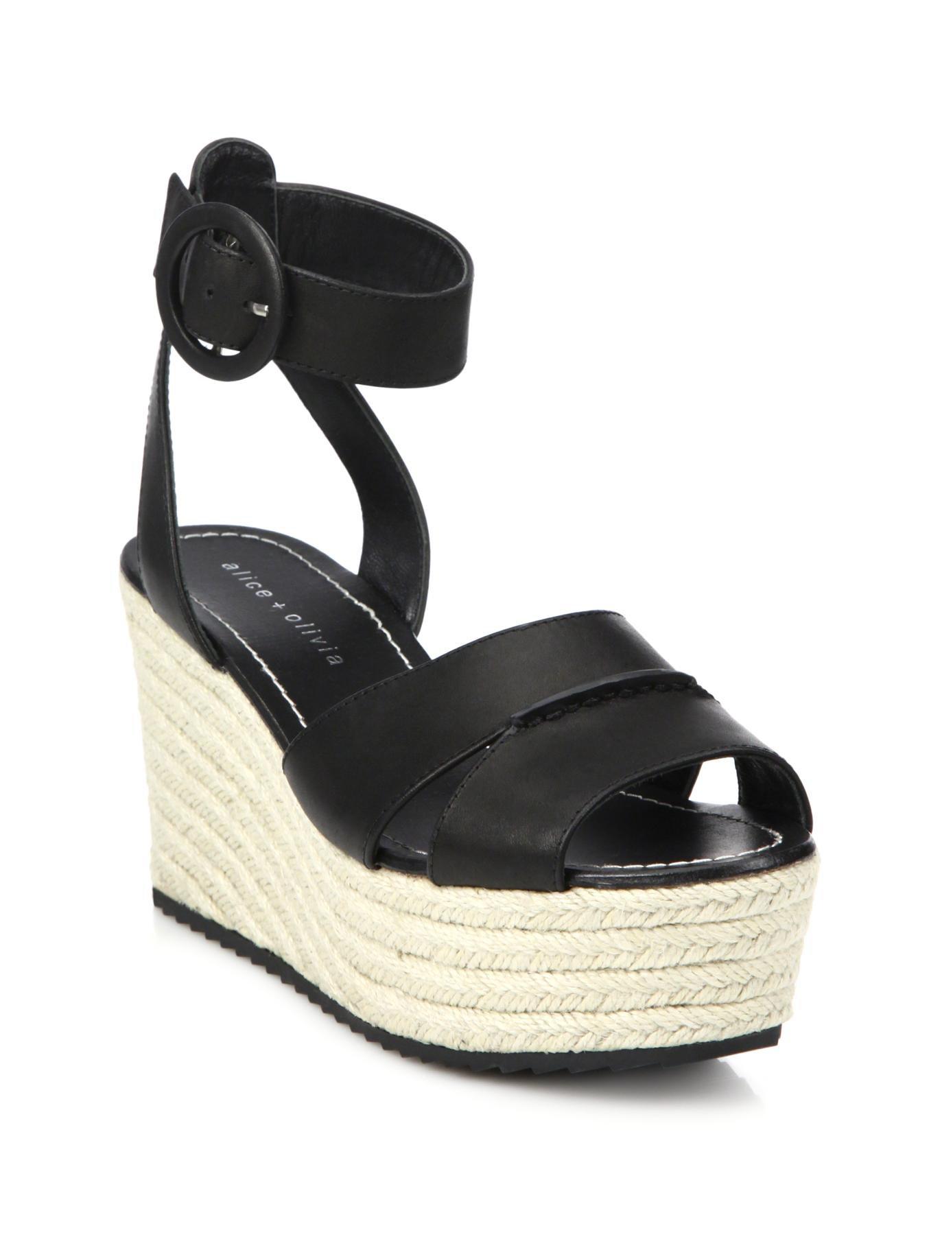 Alice + Olivia Brogue Leather Sandals footlocker finishline sale online 100% guaranteed online new online a7CM6AFP3