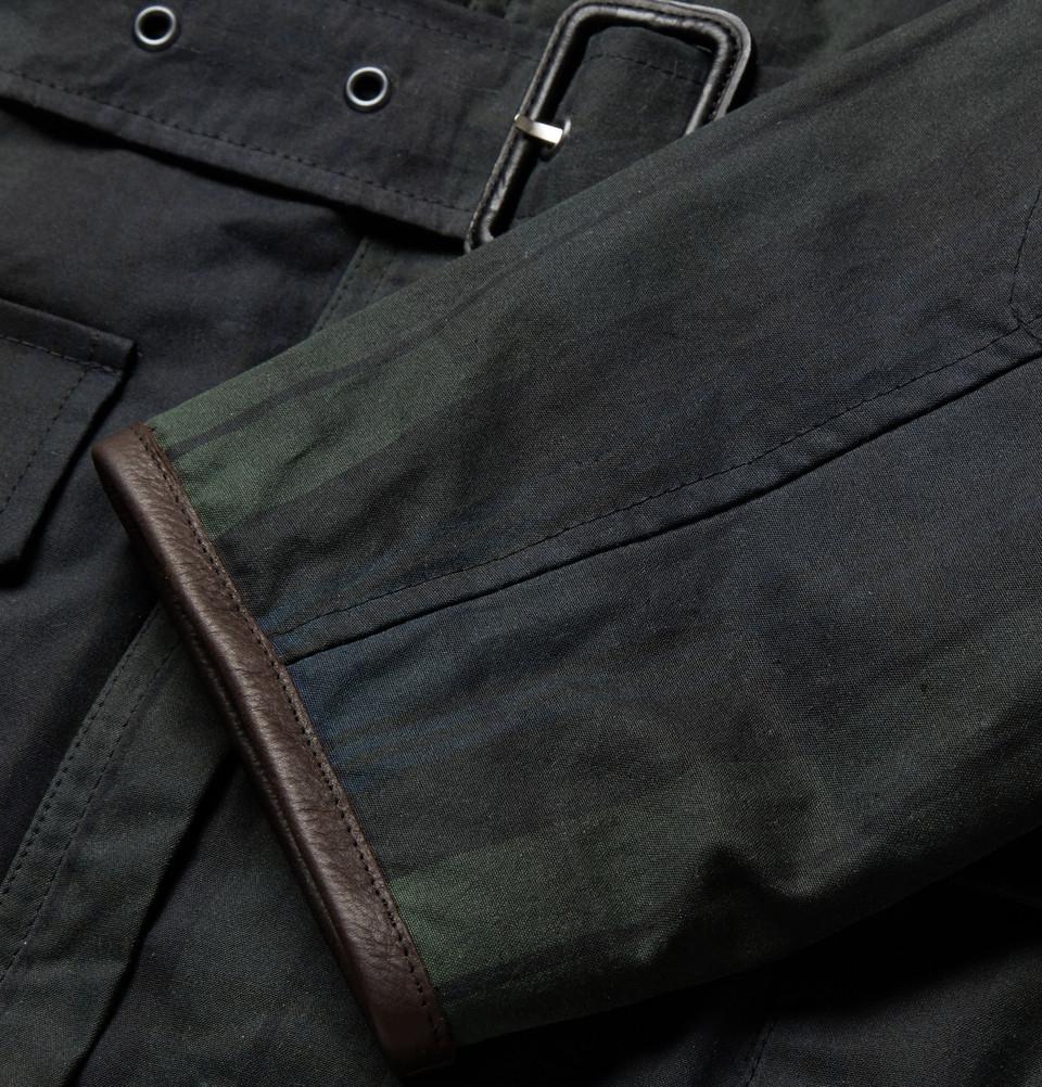 Lyst Kingsman Black Watch Waxed Cotton Field Jacket With