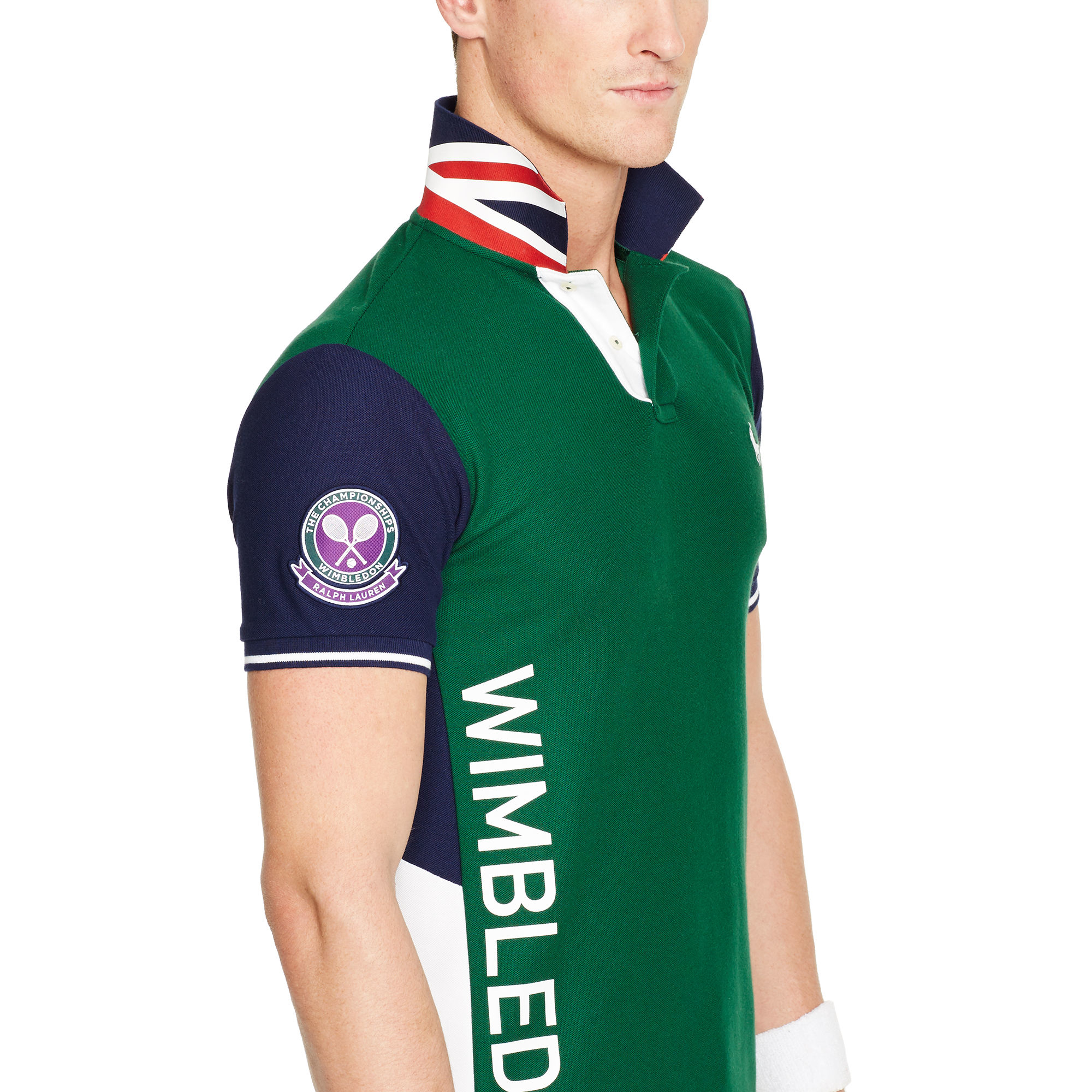 Ralph Lauren Wimbledon Piqu Polo Shirt In Green For Men Lyst