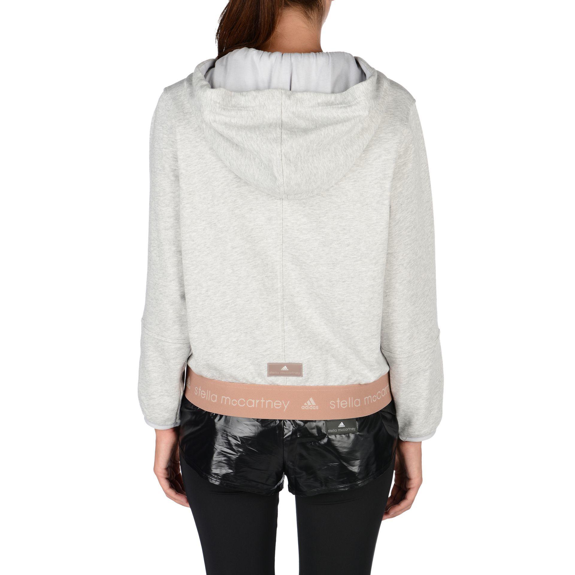 eab59c32a3c9 adidas By Stella McCartney Pearl Grey Essentials Hoodie in Gray - Lyst