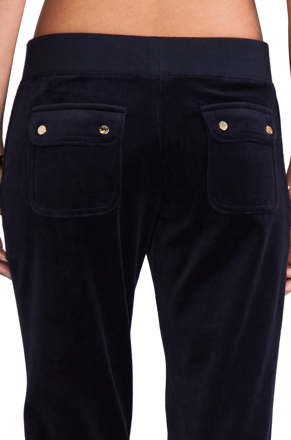 Juicy Couture J Bling Velour Bootcut Pant In Navy In Blue Lyst