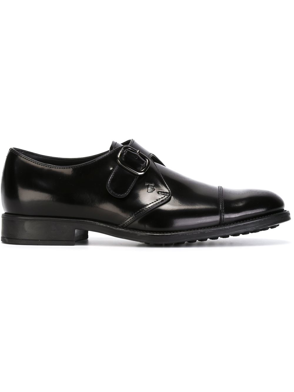 tod s monk shoes in black for lyst