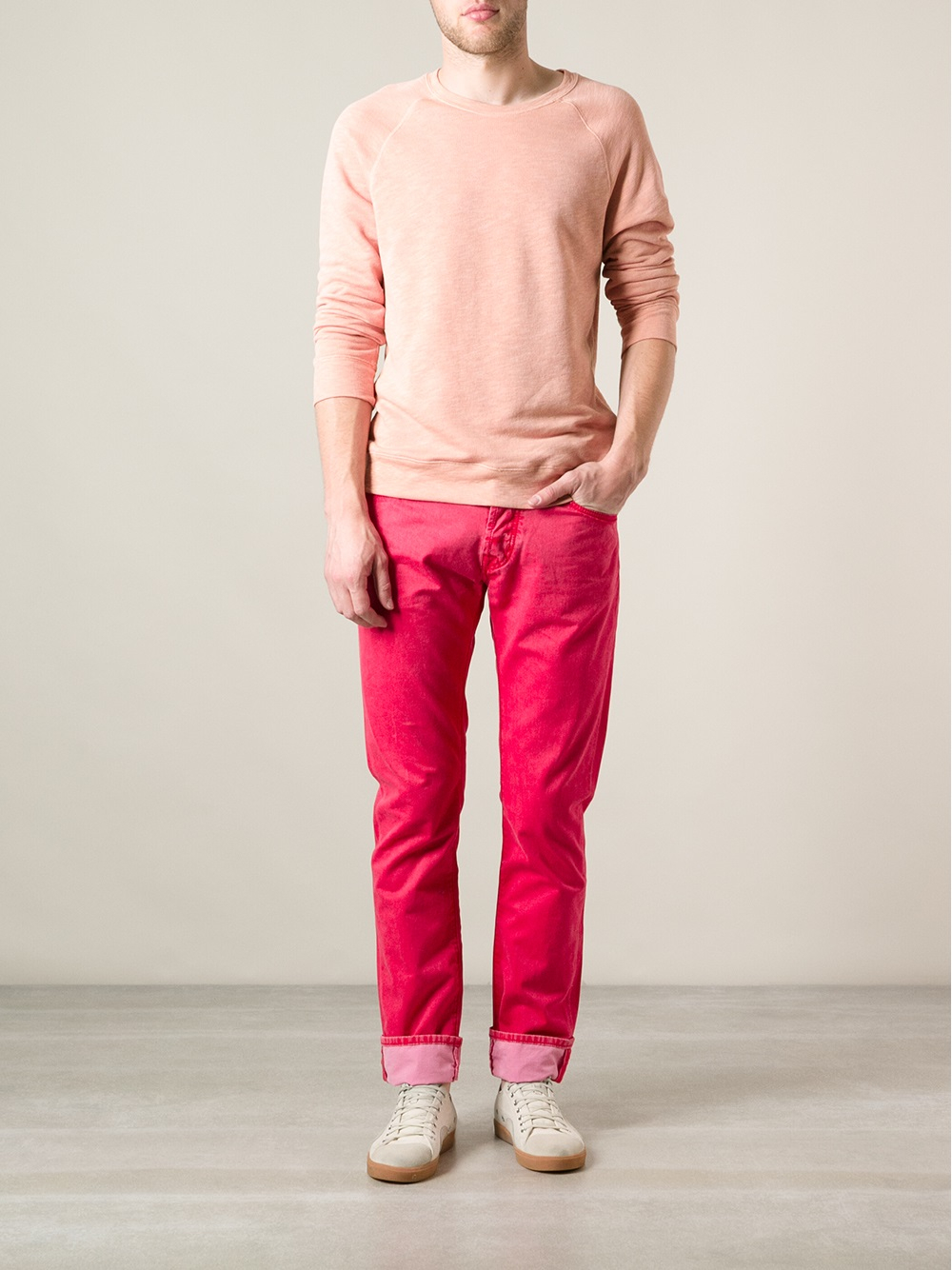 jacob cohen slim fit jeans in red for men lyst. Black Bedroom Furniture Sets. Home Design Ideas