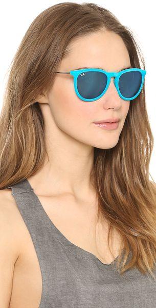 Ray Ban Erika Velvet Sunglasses In Black Azure Lyst