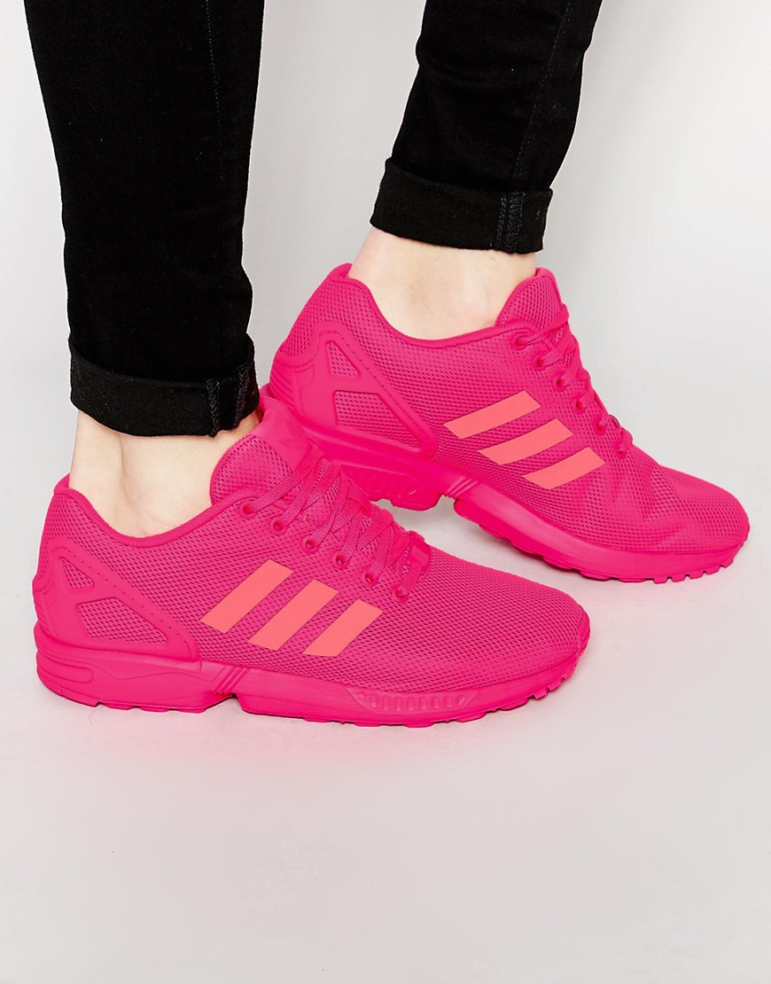 new styles 76611 b3edc adidas Originals Zx Flux Trainers S75490 in Pink for Men - Lyst