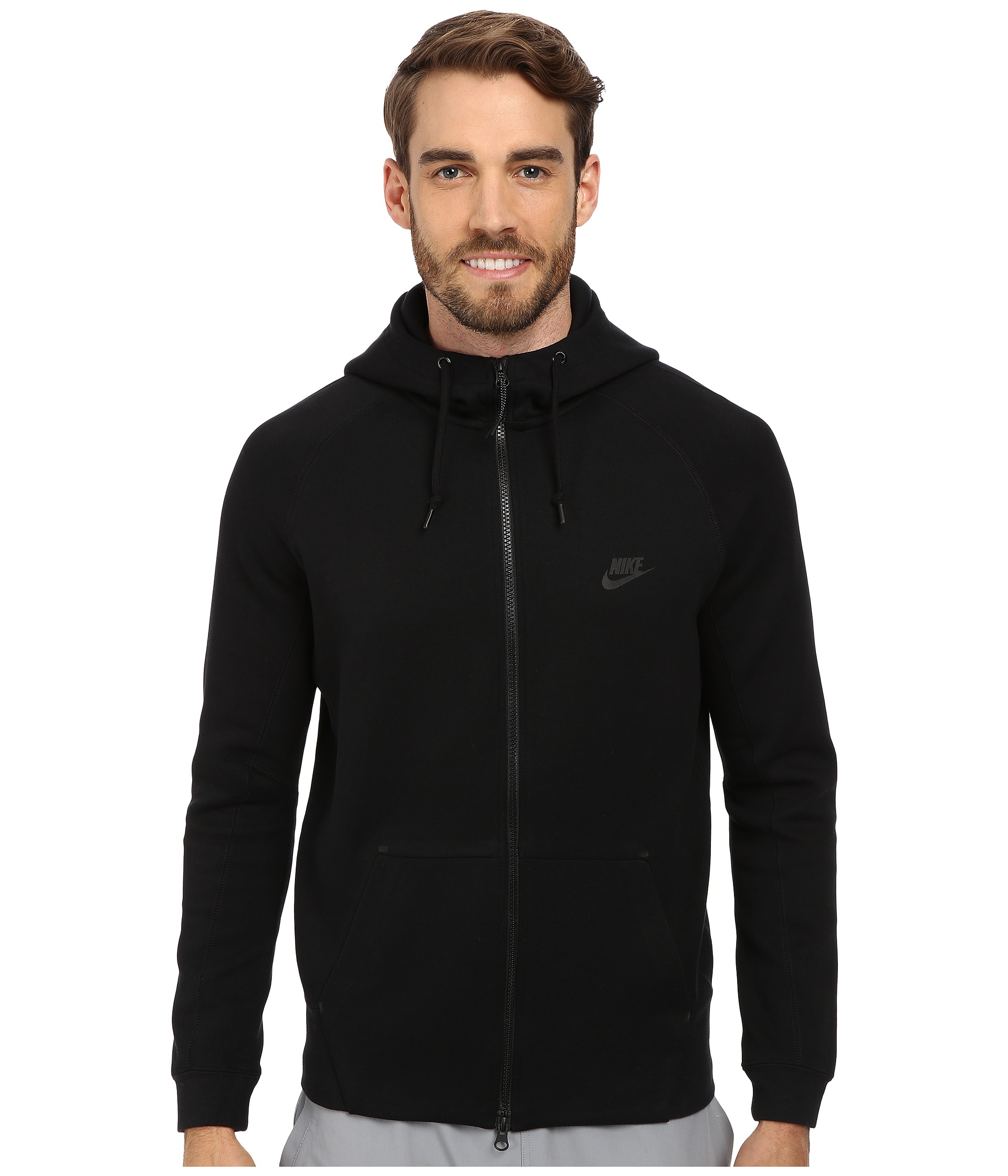 Nike Advantage 15 Full-zip Fleece Hoodie in Black for Men - Save ...