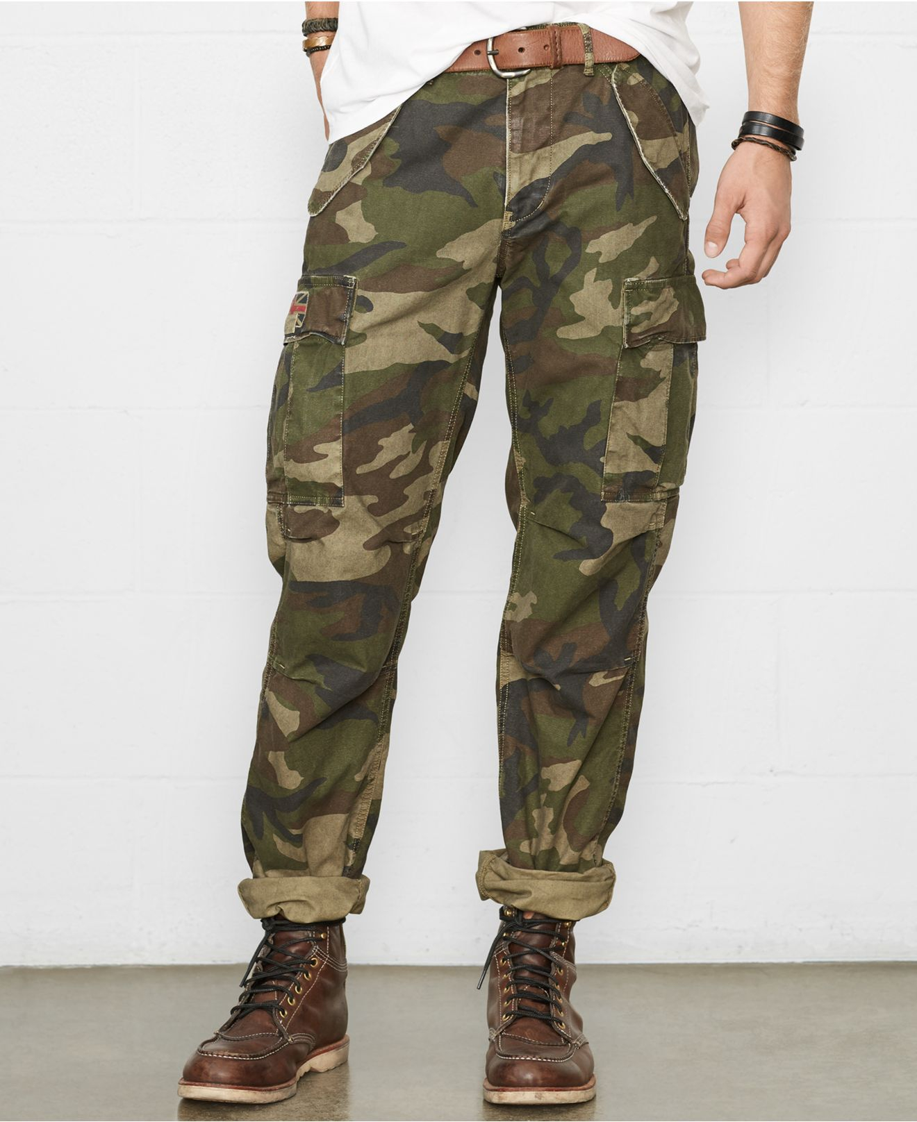 first look hot sale online official Camo Cargo Pants
