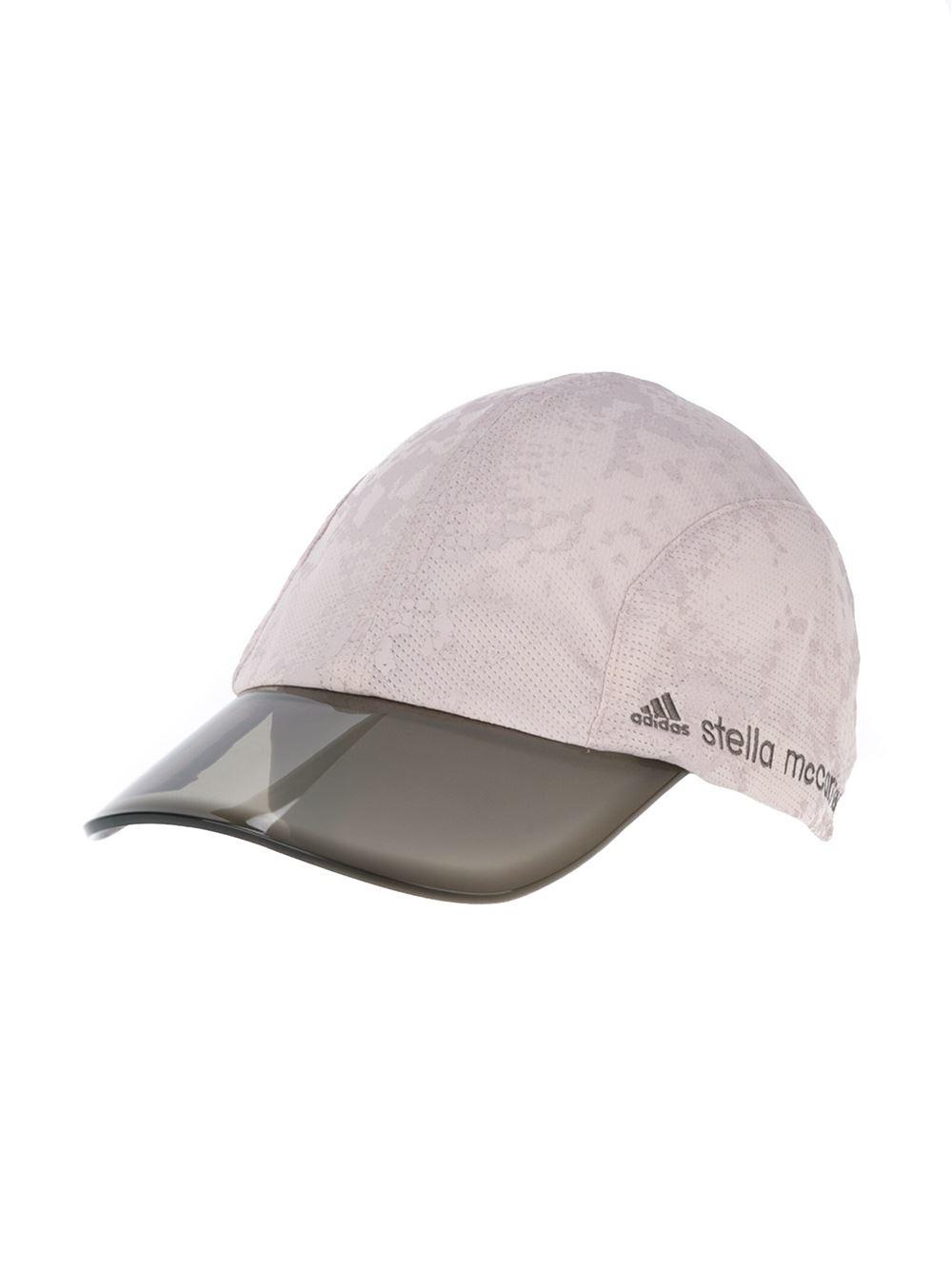 adidas By Stella McCartney Bicolor Baseball Cap in Natural - Lyst 90332c49304
