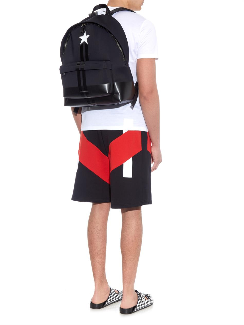 a41068736b5 Givenchy Black Star And Stripes Neoprene Backpack for men