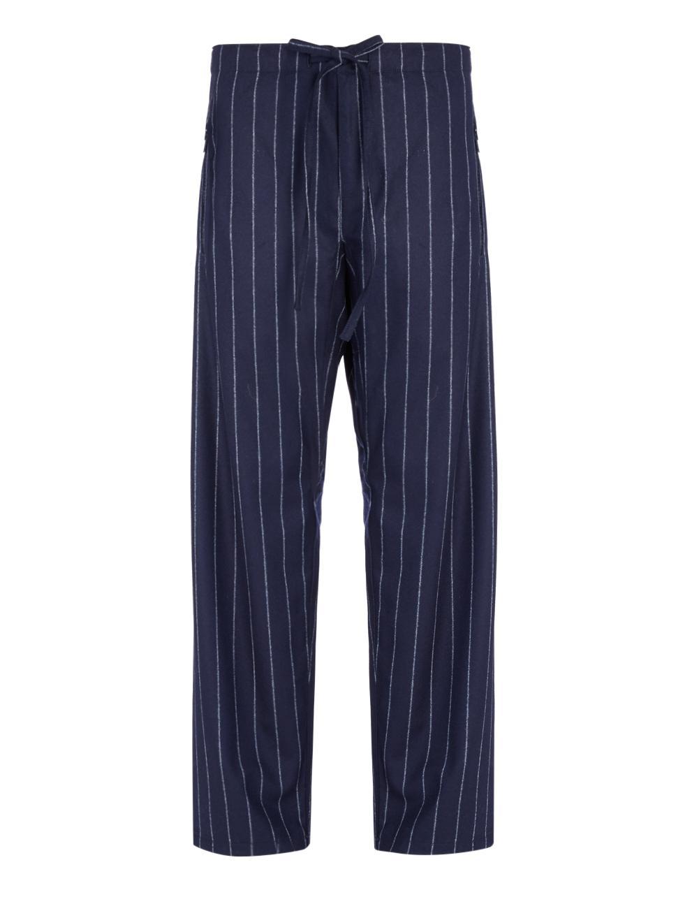JOSEPH Wool Jumbo Pinstripe Bradford Trouser in Navy (Blue) for Men