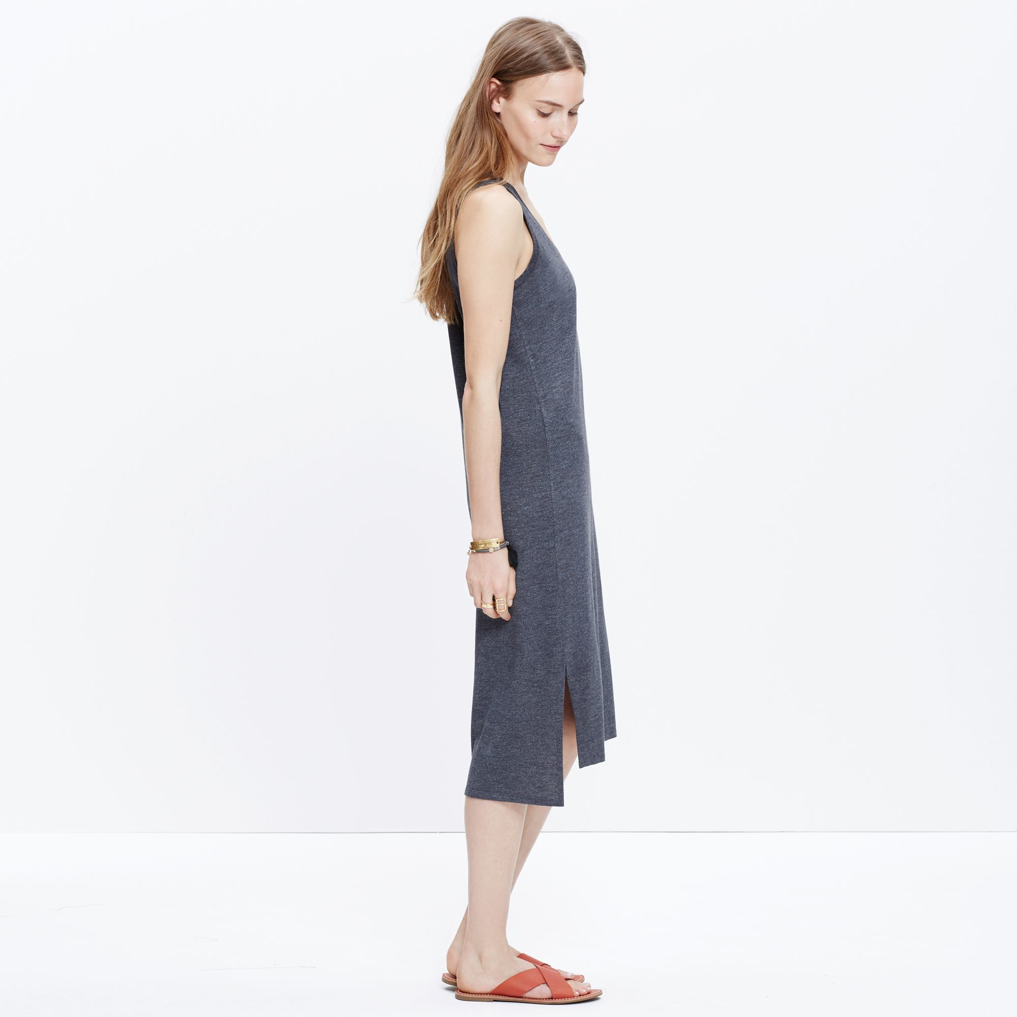 41019a8bf1d Madewell Jersey Tank Dress in Gray - Lyst