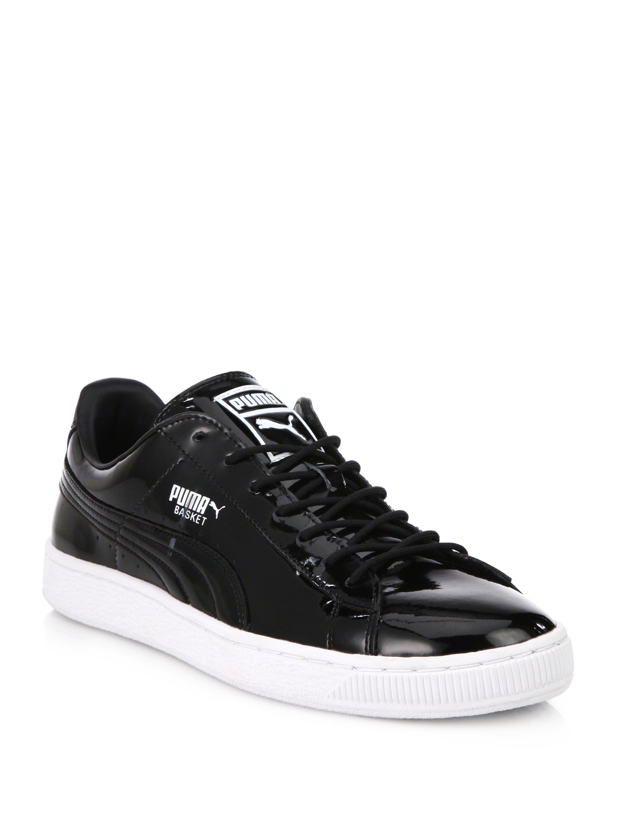 wholesale dealer 731e6 01a42 PUMA Black Basket Patent Leather Sneakers