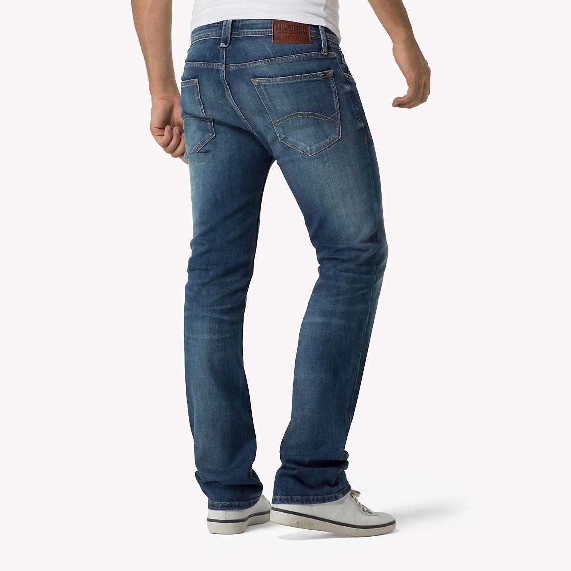 tommy hilfiger straight fit bootcut jeans in blue for men. Black Bedroom Furniture Sets. Home Design Ideas