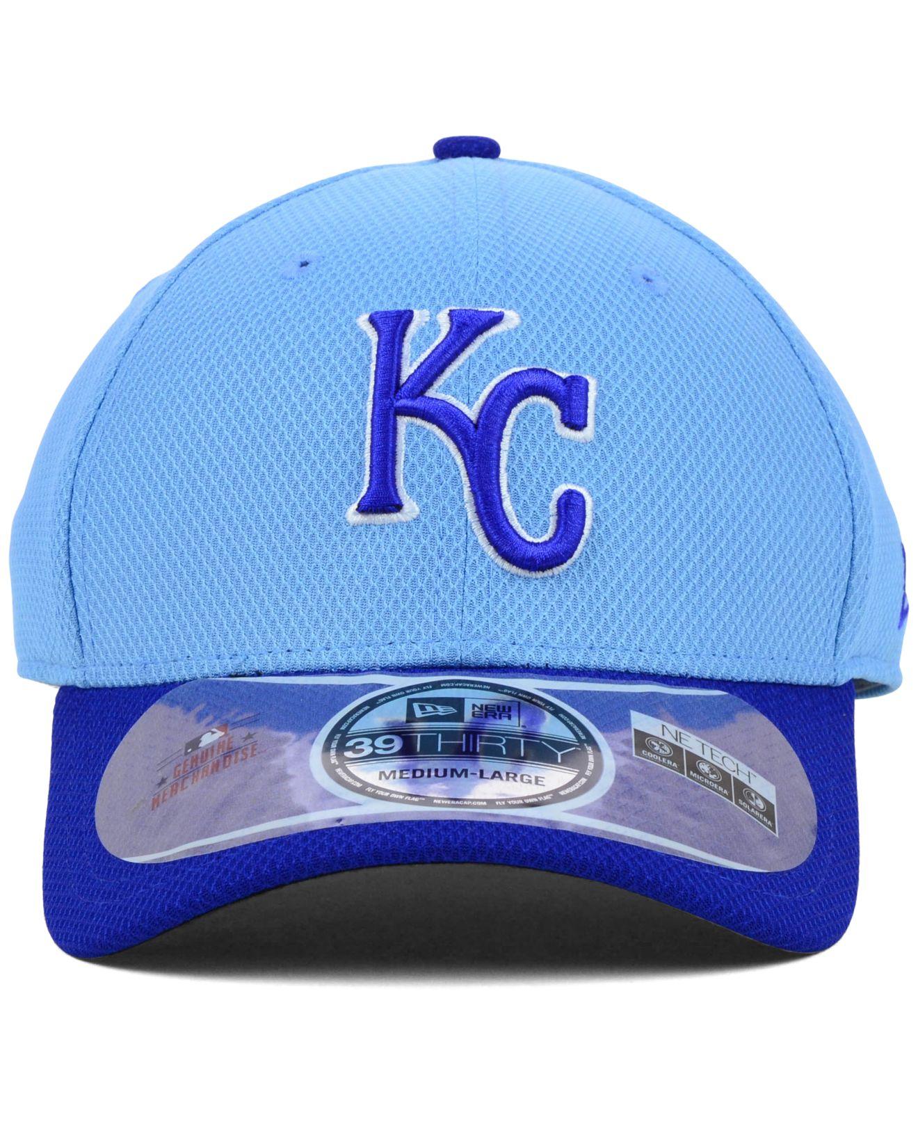 uk availability 4c7ac e81b0 ... shop lyst ktz kansas city royals mlb diamond era 2 tone 39thirty cap in  b1a8c a8172