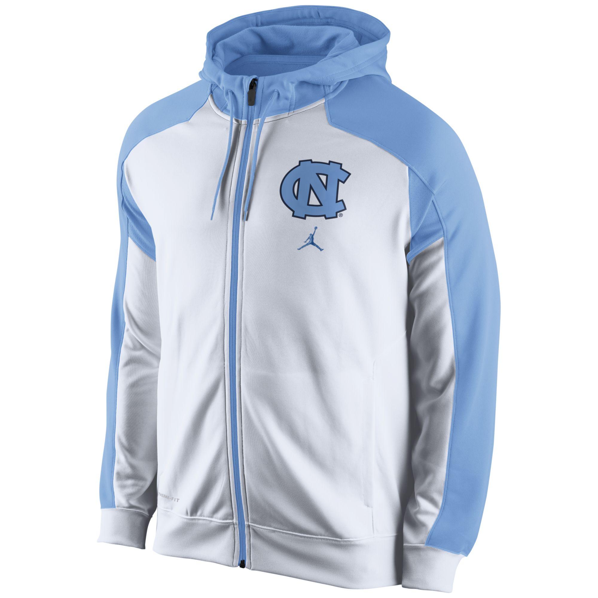 c19754bf84 Nike Blue Mens North Carolina Tar Heels Thermafit Fullzip Hoodie for men