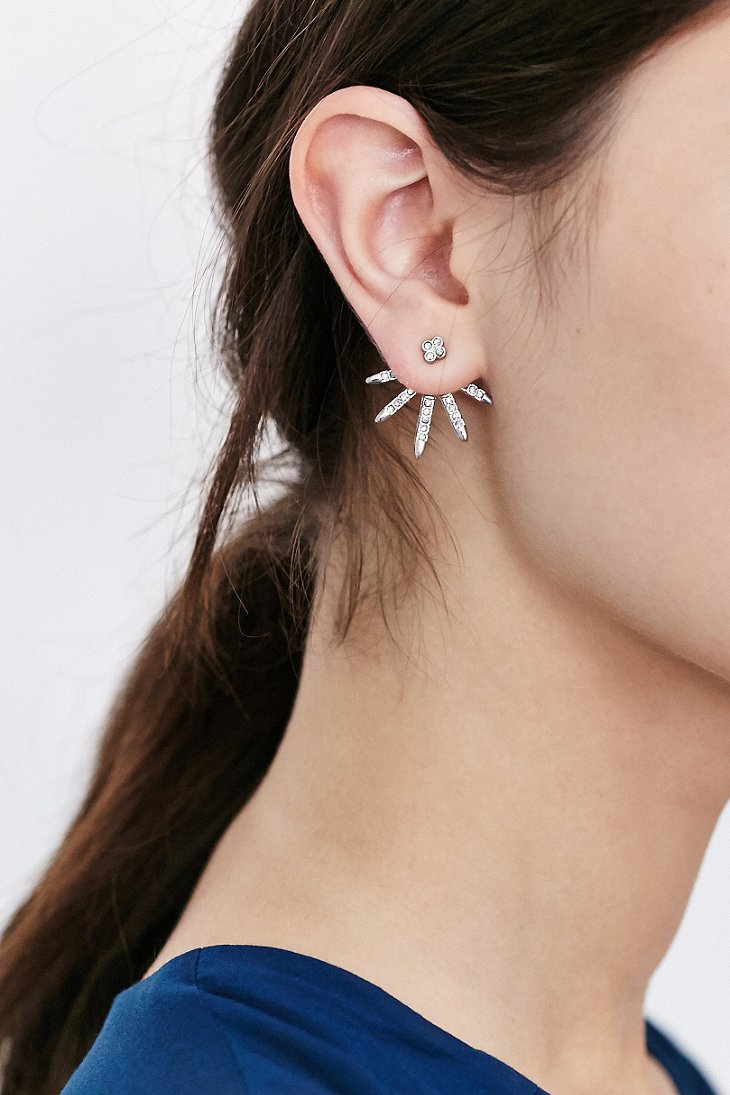 Urban Outers All Ice Front Back Earring In Metallic Lyst