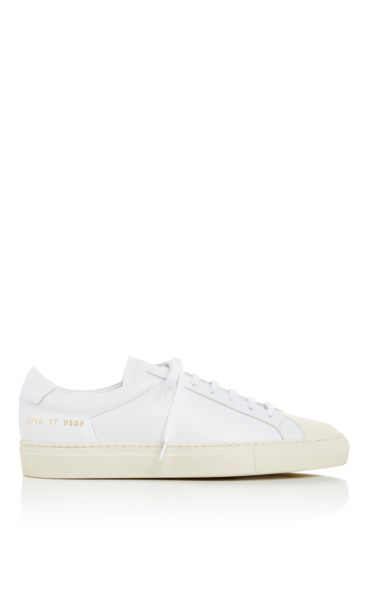 common projects white retro two toned sneakers with cap toe in white lyst. Black Bedroom Furniture Sets. Home Design Ideas