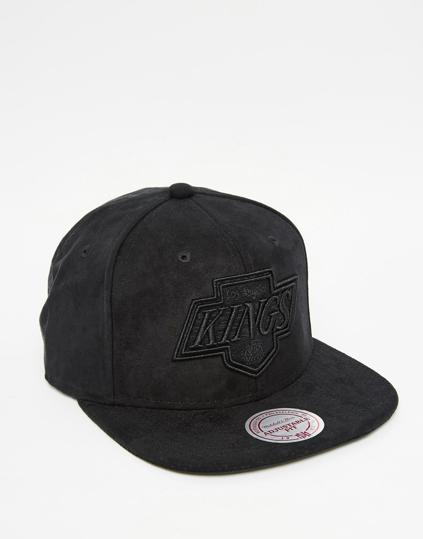 mitchell ness balance la kings snapback cap in black for. Black Bedroom Furniture Sets. Home Design Ideas