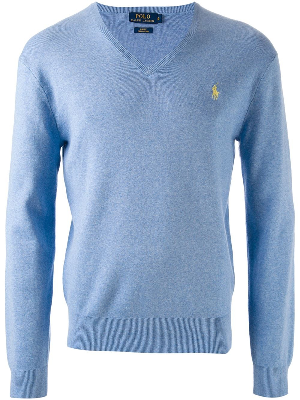 polo ralph lauren v neck sweater in blue for men lyst. Black Bedroom Furniture Sets. Home Design Ideas