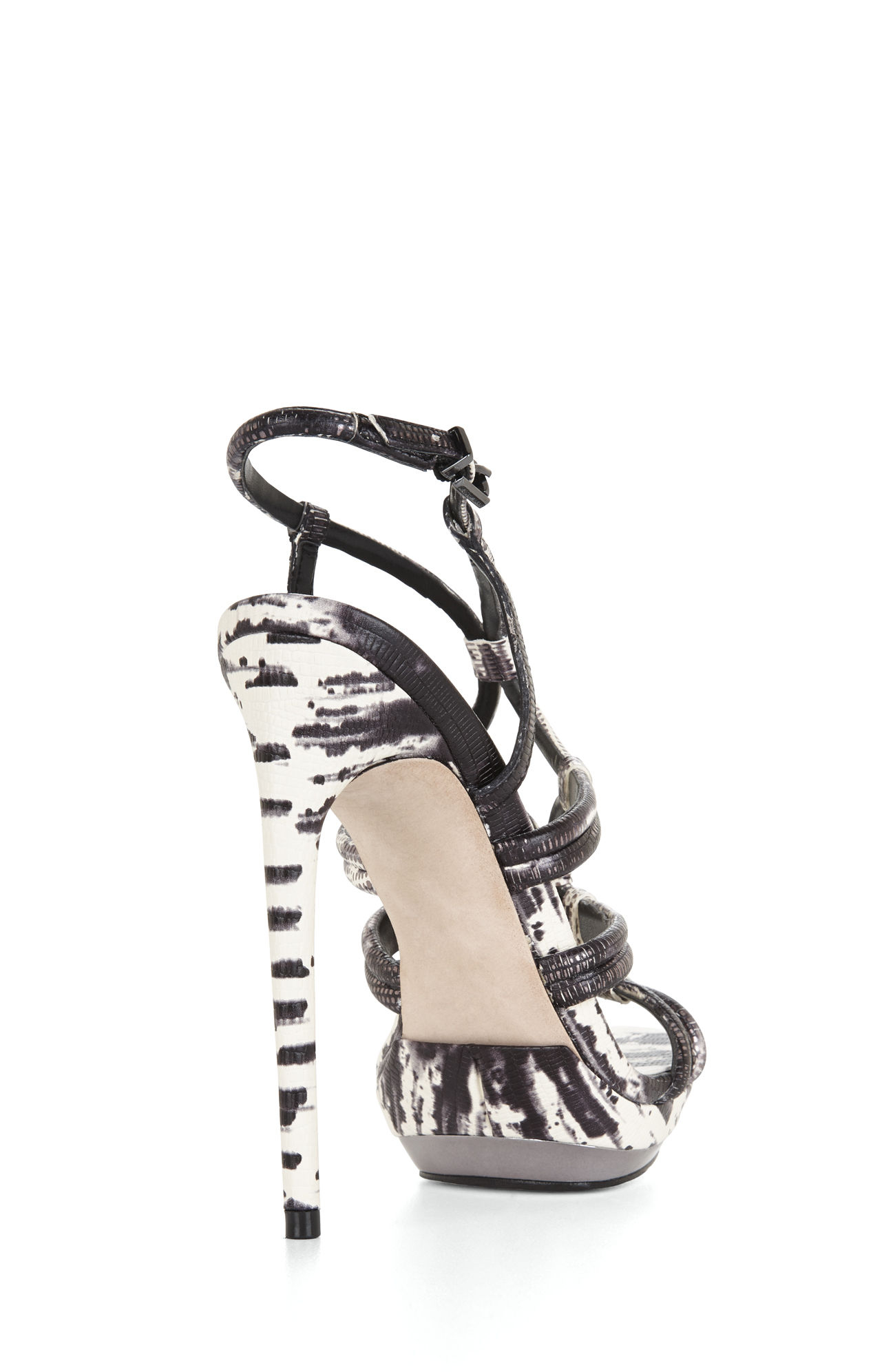 c4a0706d76da2e Lyst - Bcbgmaxazria Farrow Highheel Strappy Dress Sandal in Black