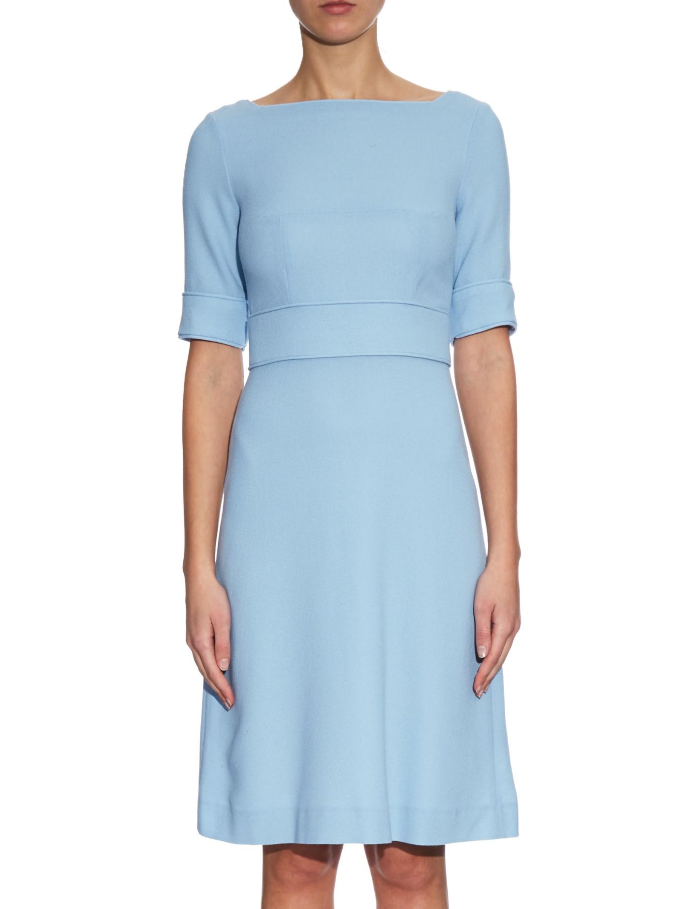 f05be6c4b5d Goat Berkley Wool-crepe Dress in Blue - Lyst