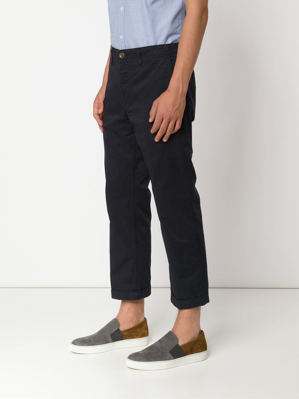 cropped chinos - Green Visvim Outlet Where Can You Find icuAu