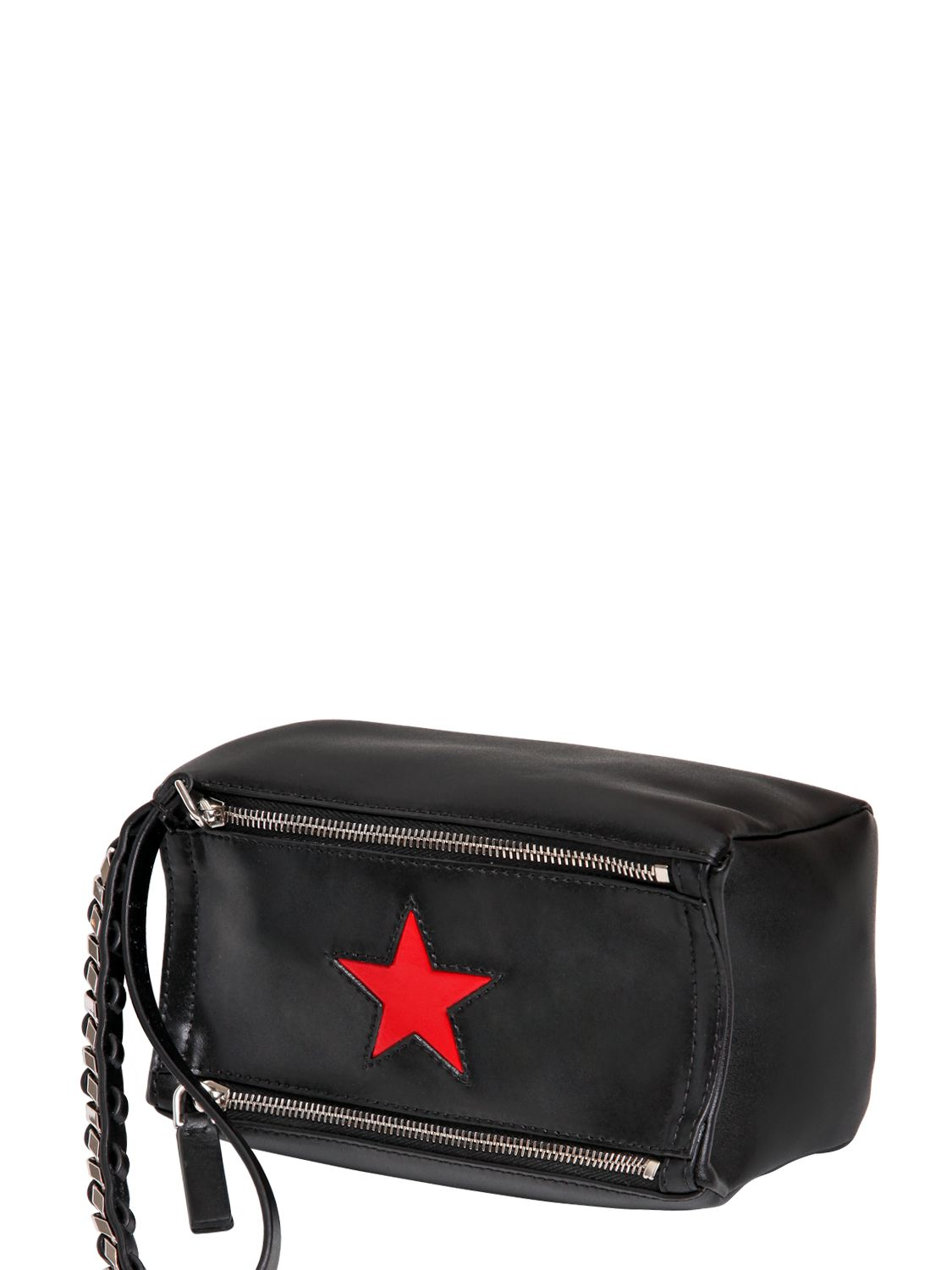 f5a9aa92177e Lyst - Givenchy Pandora Wristlet Leather Bag With Star in Black for Men