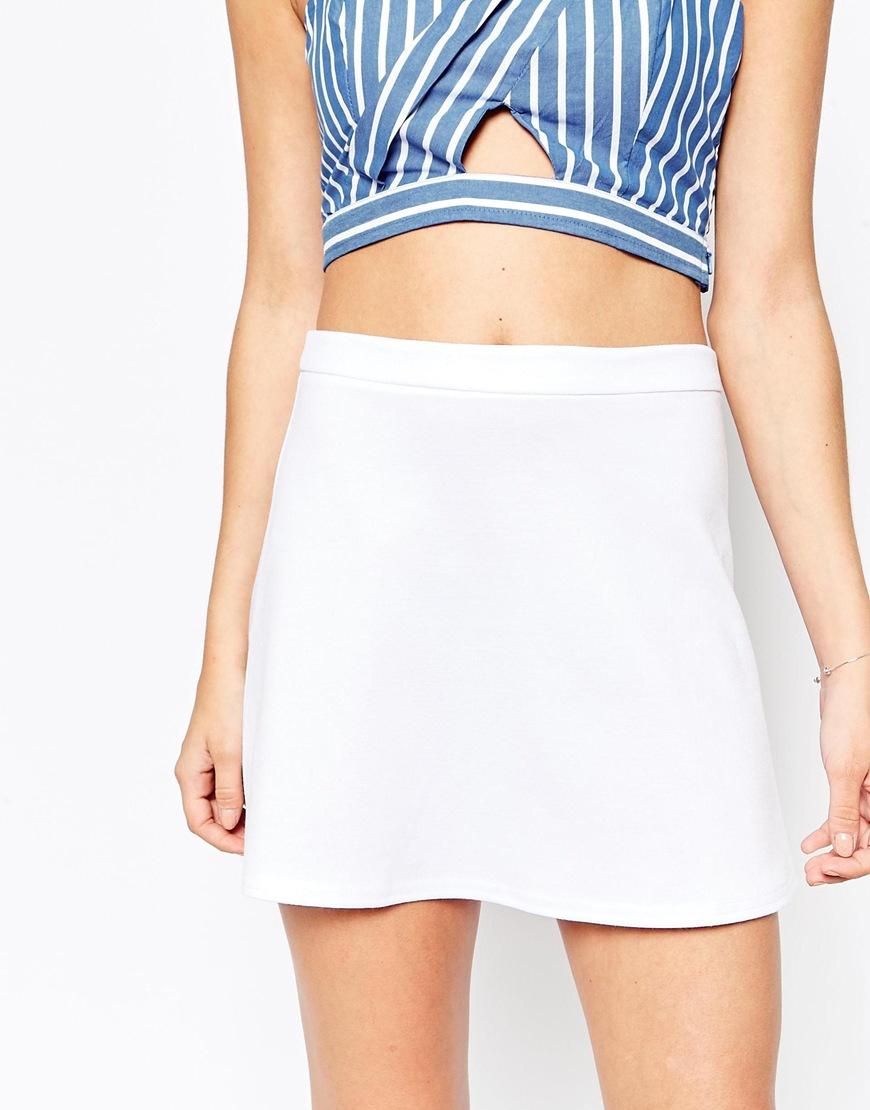 White A Line Mini Skirt | Jill Dress