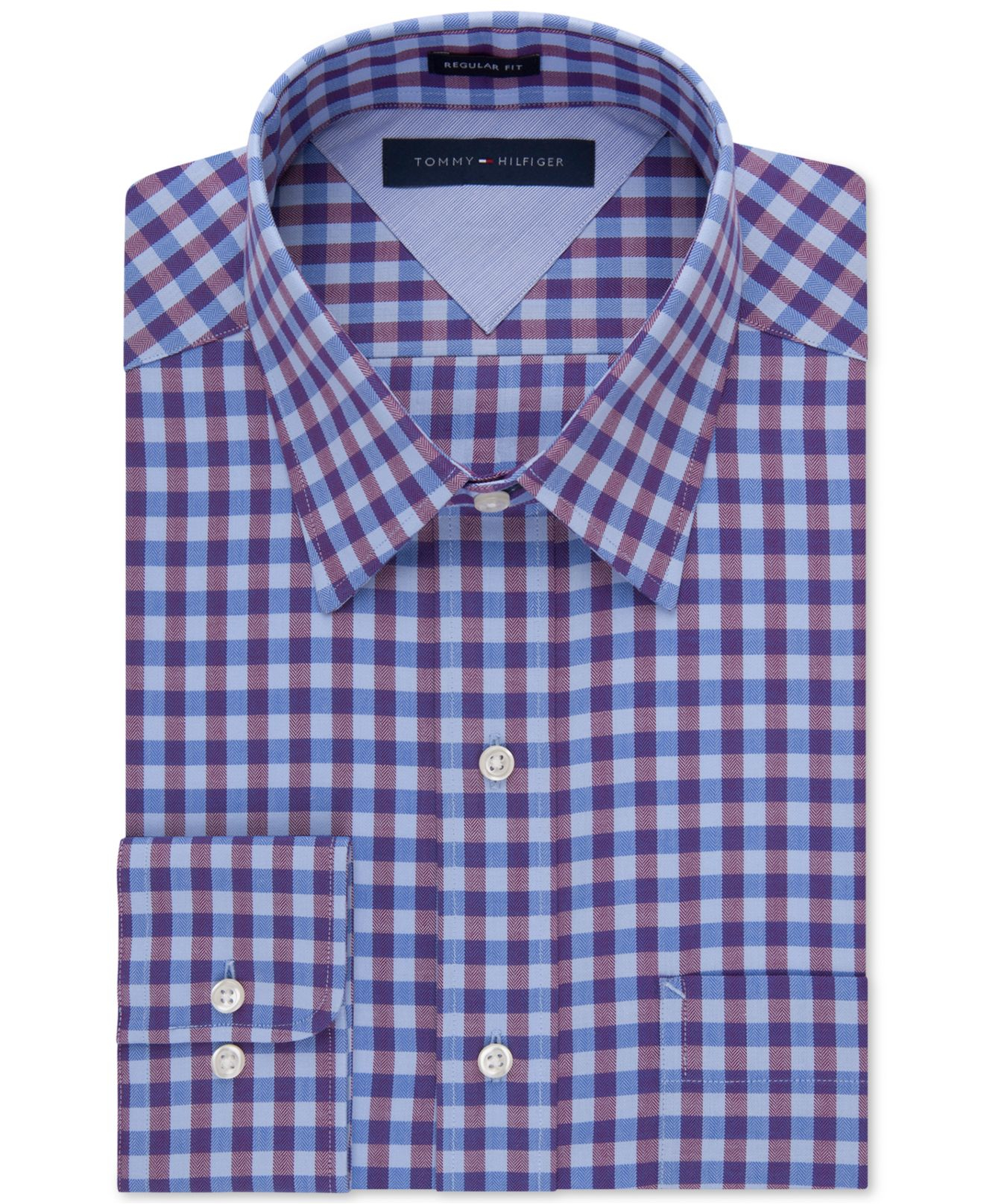 Lyst Tommy Hilfiger Easy Care Purple Gingham Dress Shirt