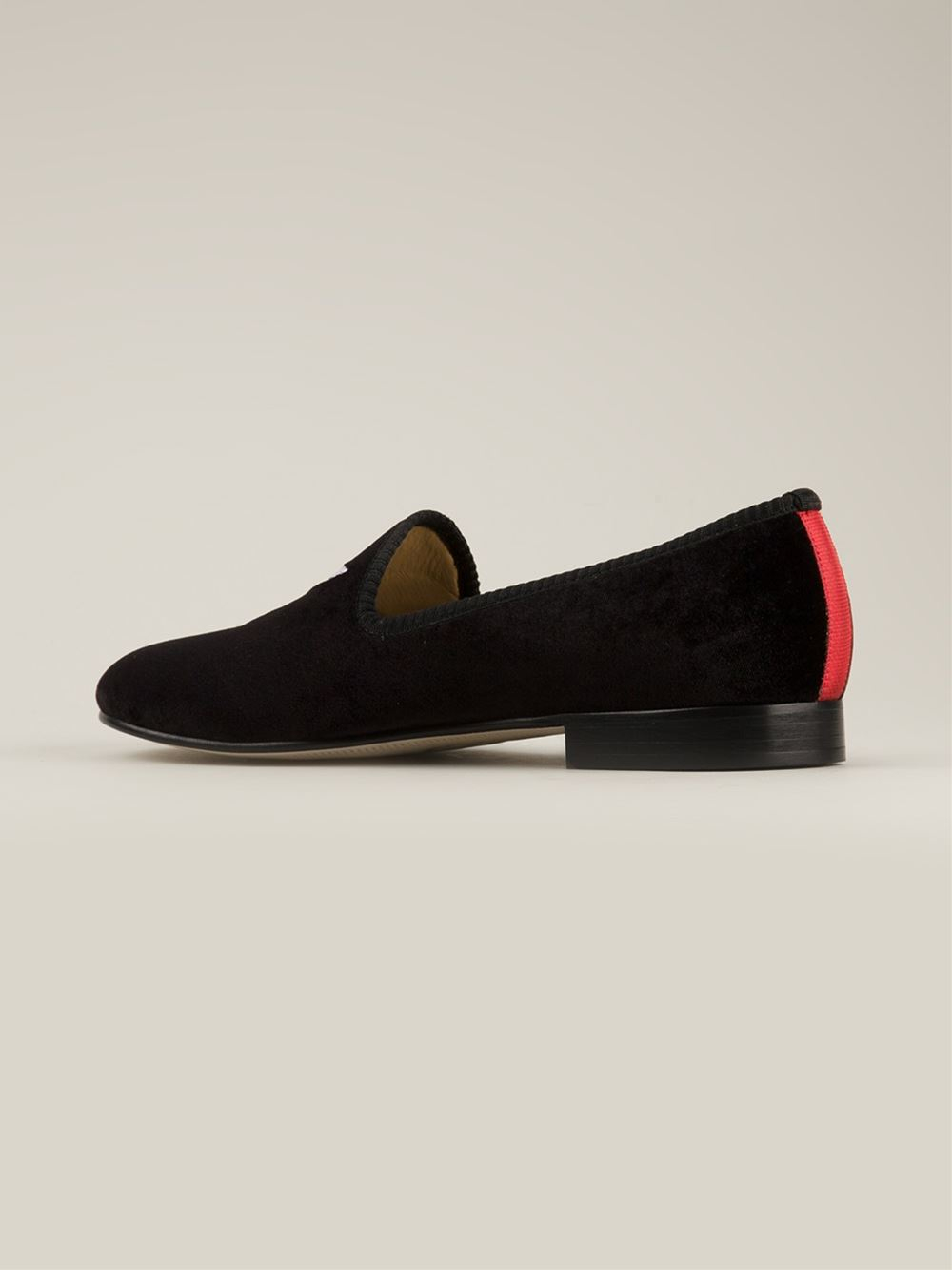 4237b6917d2 Lyst - Del Toro Silk and Leather Slippers in Black for Men