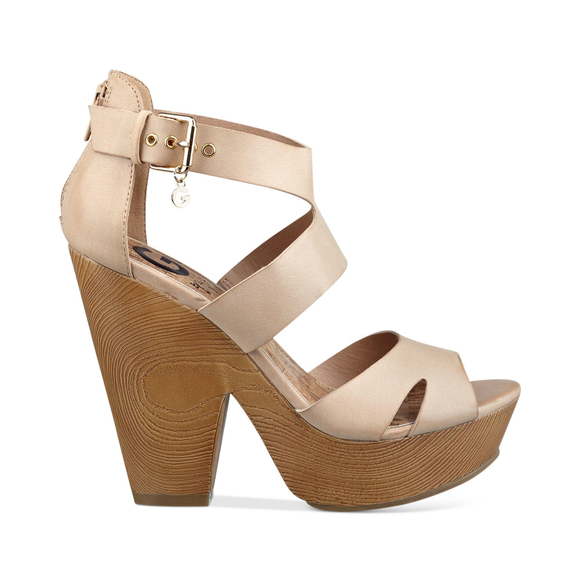 Guess Womens Sylbie Platform Sandals