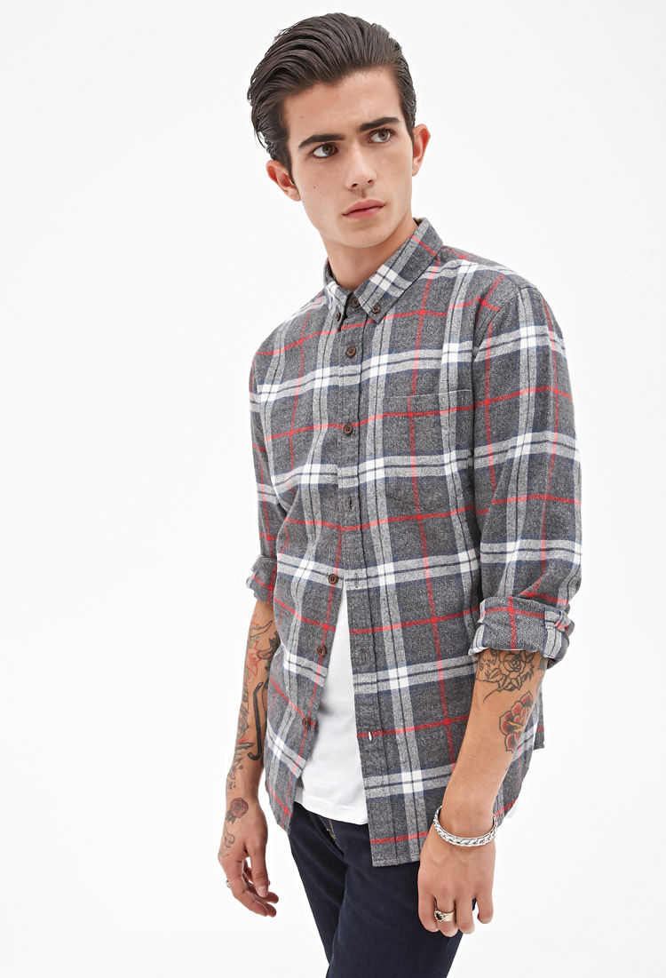 Forever 21 plaid flannel shirt you 39 ve been added to the for How to wash flannel shirts
