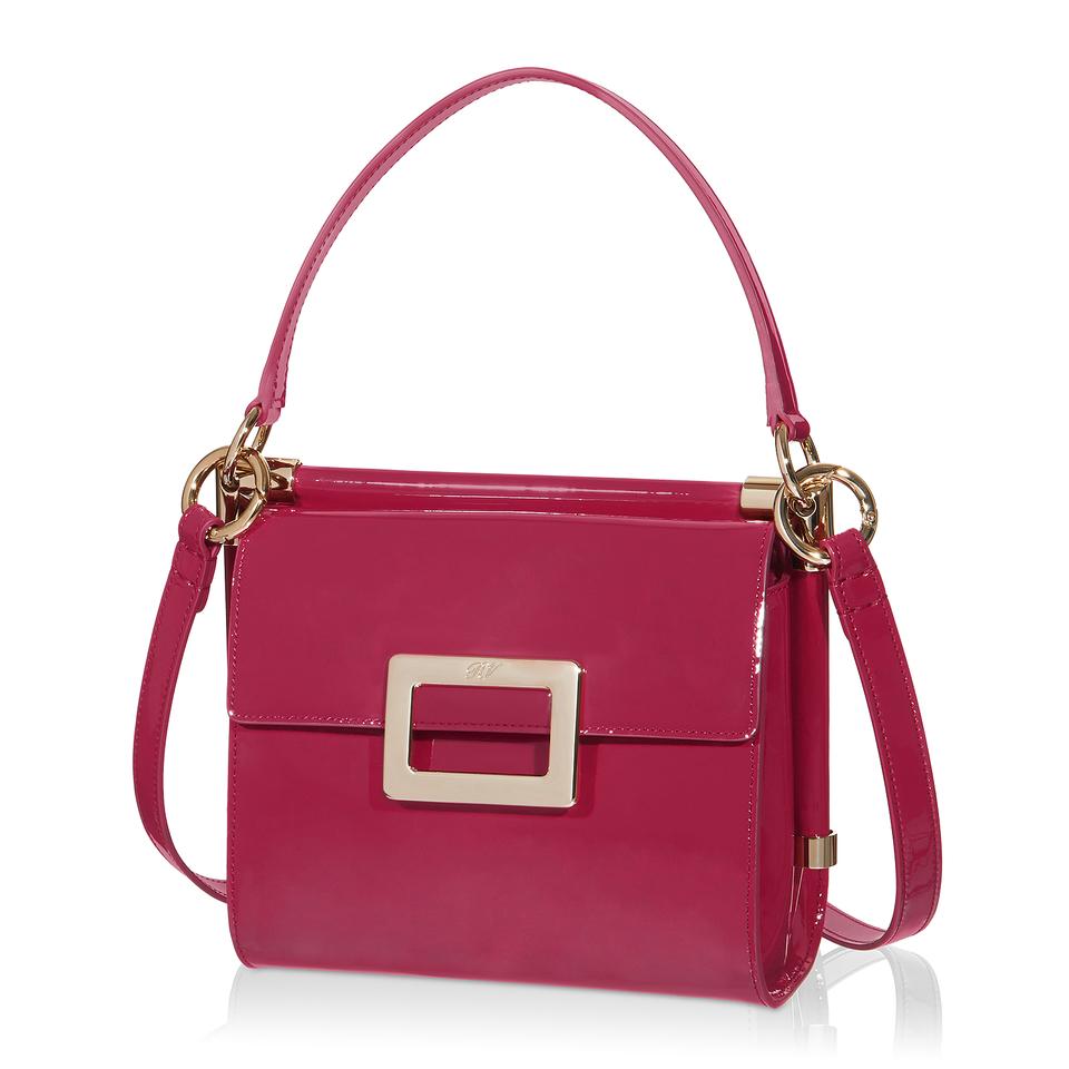 Roger vivier Miss Viv Mini Shoulder Bag In Patent Leather ...