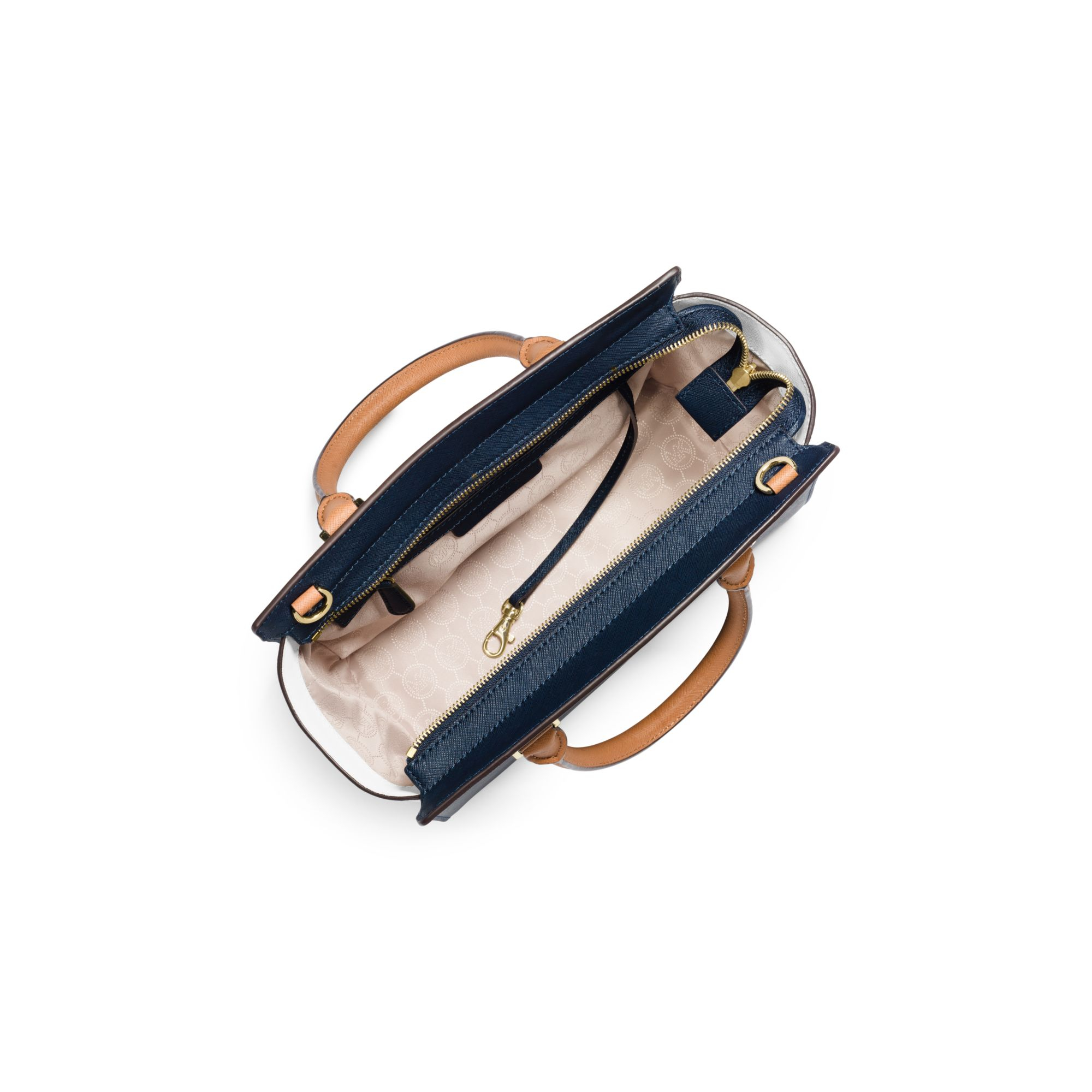 michael kors selma medium color block leather satchel in. Black Bedroom Furniture Sets. Home Design Ideas