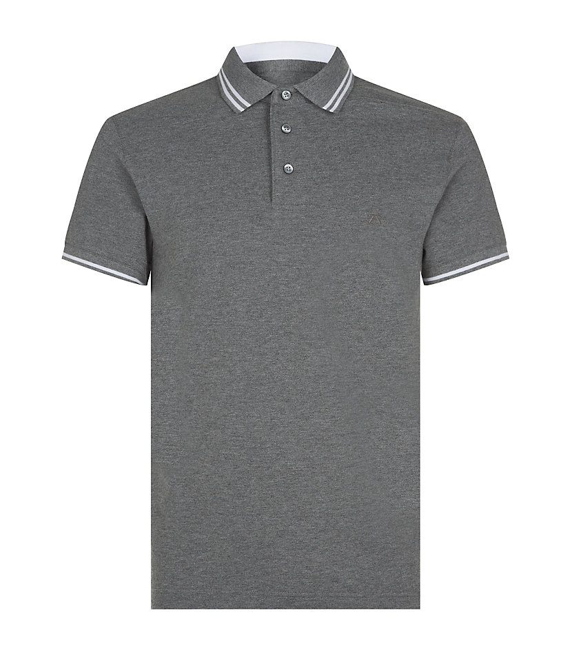 Zegna sport tipped polo shirt in gray for men lyst for Zegna polo shirts sale