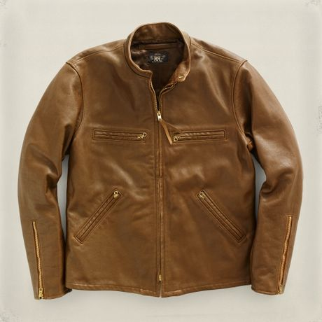 Mens Brown Leather Shirt