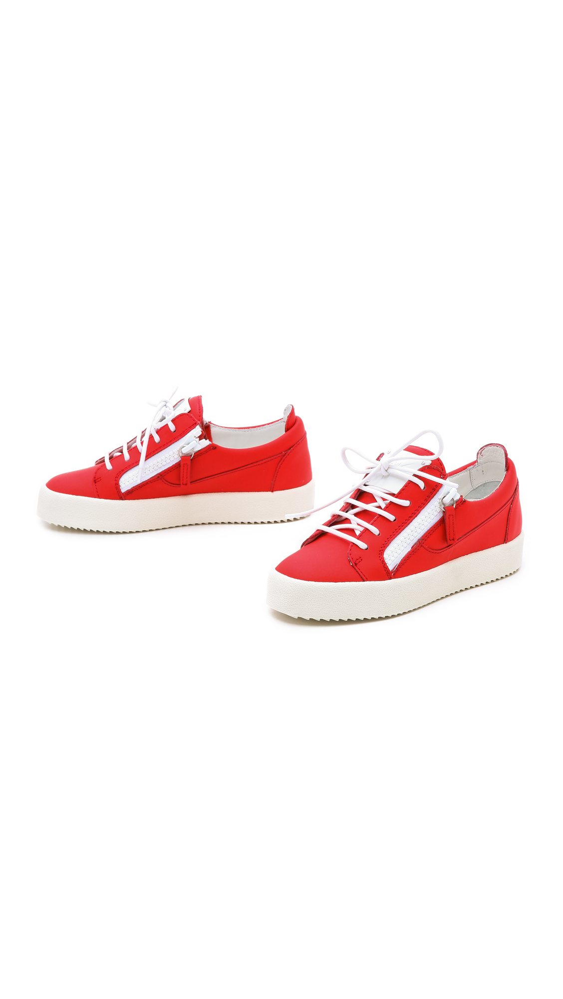 Giuseppe Zanotti Zip Low Top Sneakers - Red
