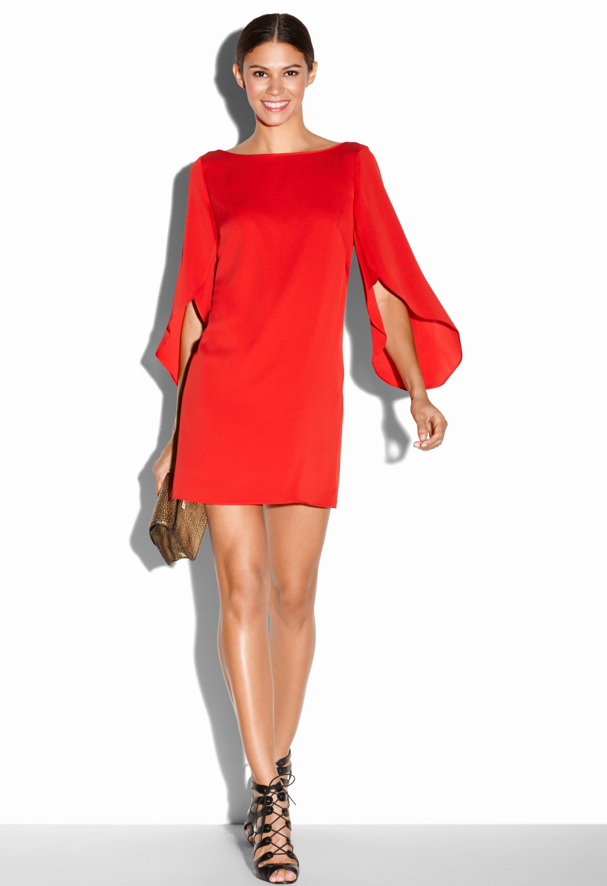 Milly Butterfly Stretch Silk Dress In Red Lyst