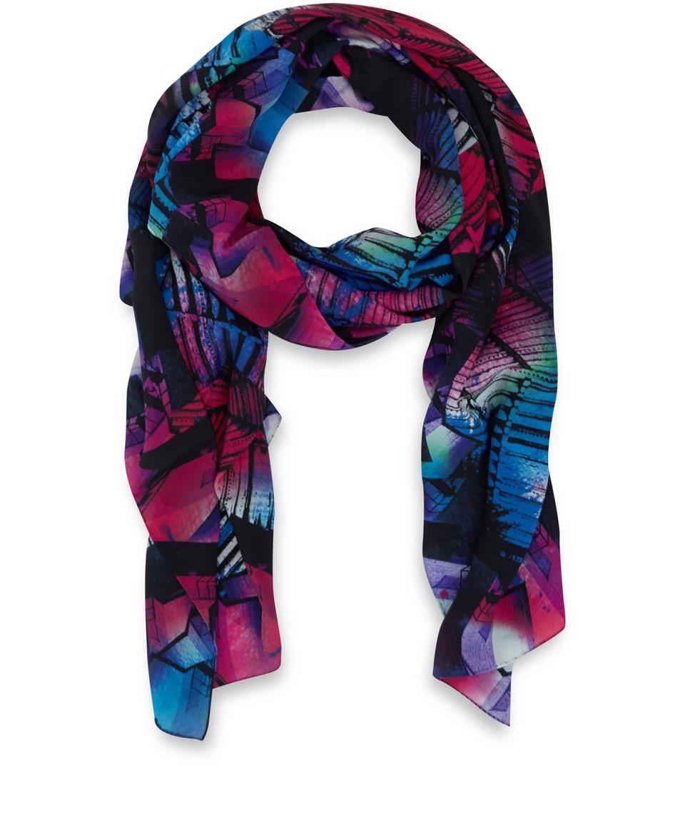 teatum jones pink louis silk scarf in pink lyst