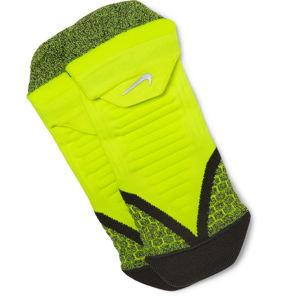 nike elite cushioned dri fit running socks in green for. Black Bedroom Furniture Sets. Home Design Ideas